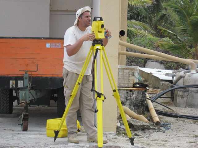 Thomas at the theodolite