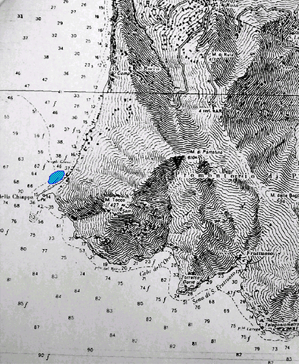Area del naufragio della Santo Spirito